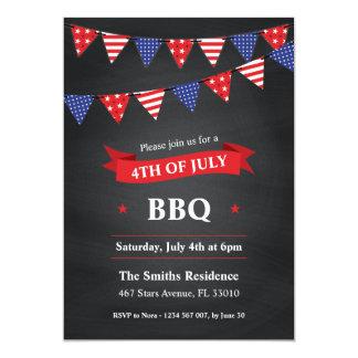 4 juillet invitation de partie de BBQ