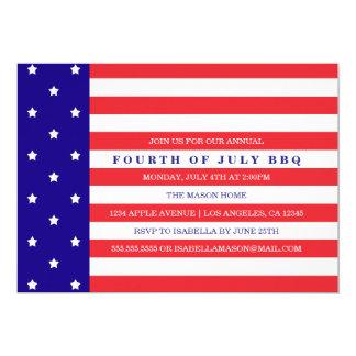 4 juillet invitation patriotique de partie de  
