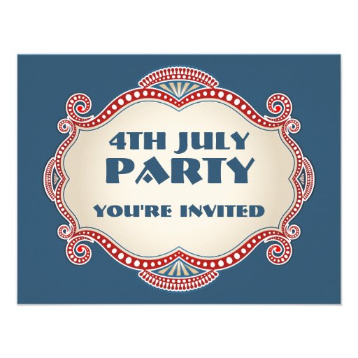 4 juillet invitations patriotiques de partie