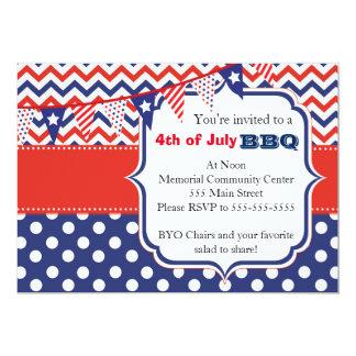 4 July BBQ Party Invitation