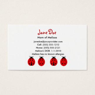 4 Ladybugs Calling Card