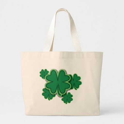 4 Leaf Clover Canvas Bags