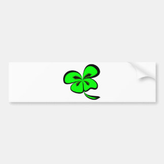 4 leaf clover bumper sticker