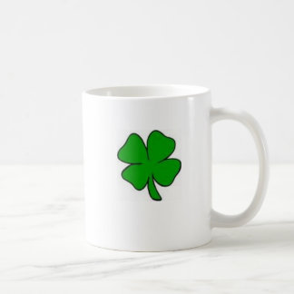 4 leaf clover coffee mug