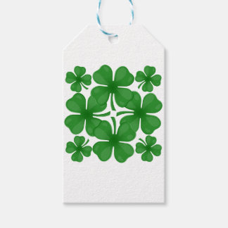4 leaf clover gift tags
