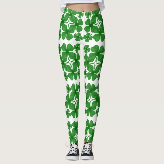 4 leaf clover leggings