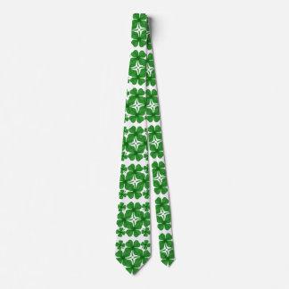 4 leaf clover menswear mens necktie neck tie