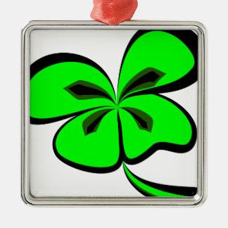 4 leaf clover metal ornament
