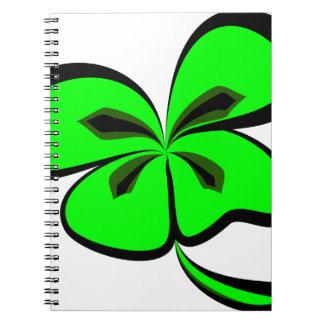 4 leaf clover notebook