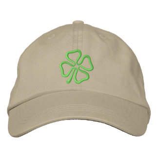 4-leaf Clover Outline Embroidered Hat