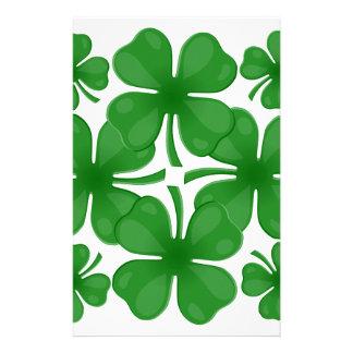 4 leaf clover stationery