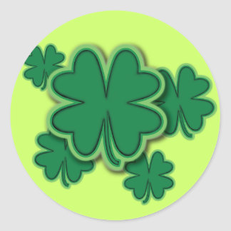 4 Leaf Clover Stickers