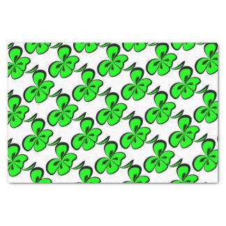 4 leaf clover tissue paper
