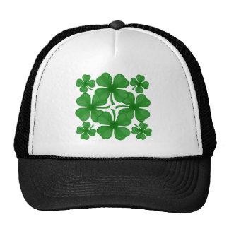 4 leaf clover trucker hat