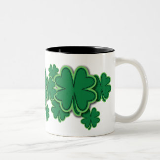 4 Leaf Clover Two-Tone Mug