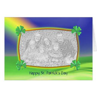 4-Leaf Clovers St. Patrick's Day (photo frame) Card