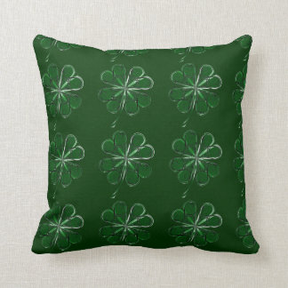 4 Leaf Luck Throw Pillow