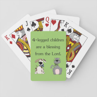 4-legged children are a blessing... card deck