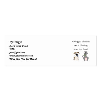 4-legged children are a blessing (pic) pack of skinny business cards