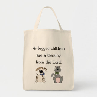 4-legged children are a blessing (pic) canvas bags