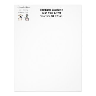 4-legged children are a blessing (pic) letterhead template