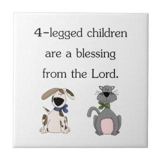 4-legged children are a blessing (pic) ceramic tile