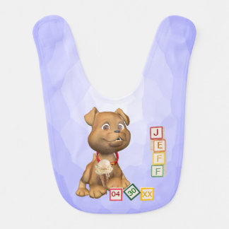 4 Letter Name Version - Customizable - Baby Bib
