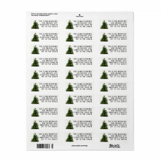 4 Line Christmas Tree Return Address Labels
