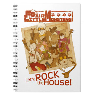 4 Little Monsters - Let s Rock the House Note Book