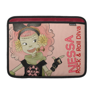 4 Little Monsters - Nessa Sleeves For MacBook Air