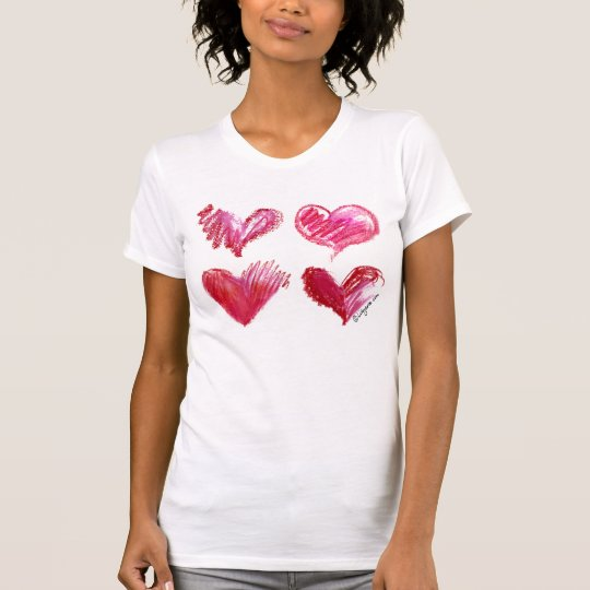 4 Love Hearts Tee Shirt