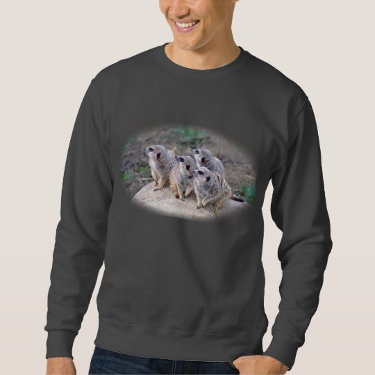 4 Meercats Looking Left Sweatshirt