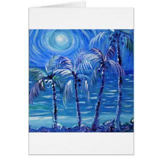4 moon lit palms card