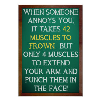 4 Muscles to Punch Funny Poster