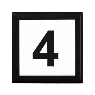 4 - number four gift box