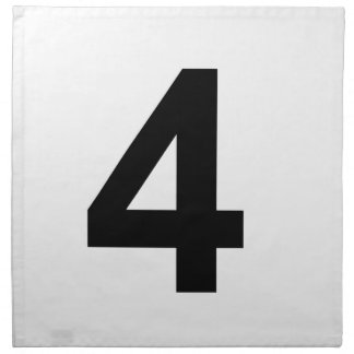 4 - number four napkin