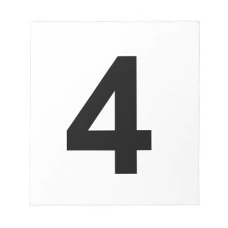 4 - number four notepad