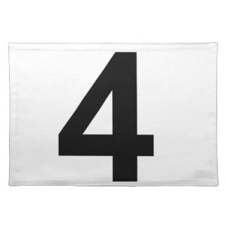4 - number four placemat