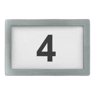 4 - number four rectangular belt buckles