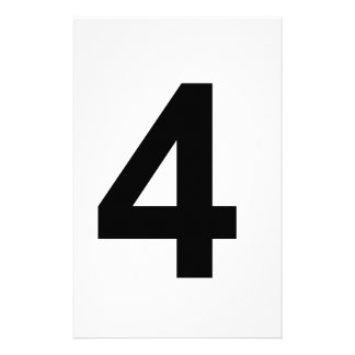 4 - number four stationery