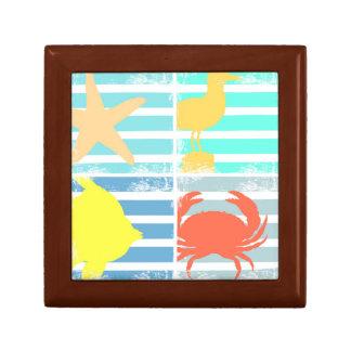 4 Ocean Design Squares Gift Box