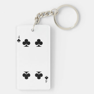 4 of Clubs Keychain
