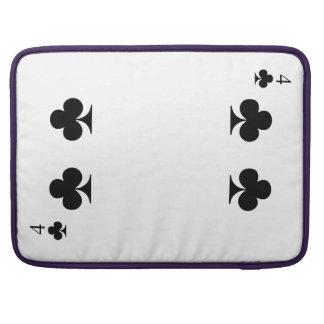 4 of Clubs MacBook Pro Sleeves