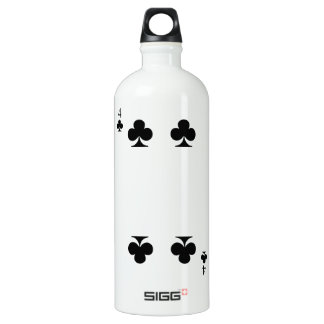 4 of Clubs Water Bottle