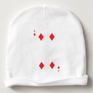 4 of Diamonds Baby Beanie