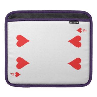 4 of Hearts iPad Sleeves