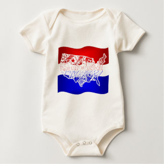 4 of July- USA Rompers