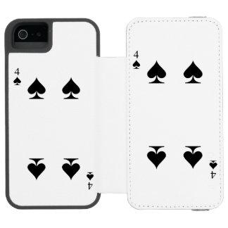 4 of Spades Incipio Watson™ iPhone 5 Wallet Case