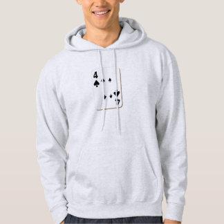 4 of Spades Playing Card Sweatshirt