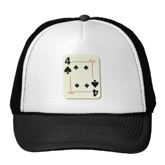 4 of Spades Playing Card Trucker Hat